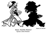 Punch cartoons by Robert Sherriffs..Film Review ; ..Cyrano de Bergerac : Jose Ferrer