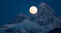Full Moon and Grand Teton