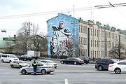 Moskou is de hoofdstad en met afstand de grootste stad van Rusland, voorheen van de Sovjet-Unie./// Moscow is the capital and by far the largest city of Russia, formerly the Soviet Union.<br /> <br /> Op de foto / On the photo:  Graffiti in Moskou / Graffiti in Moscow