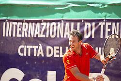 June 18, 2018 - L'Aquila, Italy - Martin Cuevas during match between Hugo Dellien (BOL) and Martin Cuevas (URU) during day 3 at the Internazionali di Tennis Citt dell'Aquila (ATP Challenger L'Aquila) in L'Aquila, Italy, on June 18, 2018. (Credit Image: © Manuel Romano/NurPhoto via ZUMA Press)