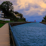 """Walkway to Charlevoix Light Station""<br />
