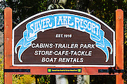 Sign at the Silver Lake Resort, Inyo National Forest, California USA