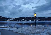 Winter in Tegernsee, Germany. Night shot