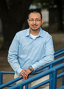 Antonio Rodriguez poses for a photograph at Fonville Middle School, August 28, 2014.