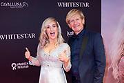 Feestelijke premiere Britt Dekkers Whitestar in Pathe Tuschinski.<br /> <br /> Op de foto:  Britt Dekker Addy van den Krommenacker