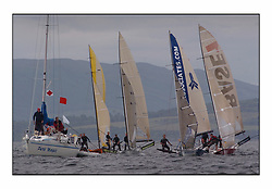 The 2004 Skiff Nationals at Largs held by the SSI.<br /> <br /> Des Balmforths Pure Magic pre start.<br /> <br /> <br /> Marc Turner / PFM Pictures