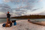 Keith Robinson, an Outward Bound Instructor, on Lulu Key, Everglades