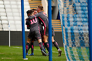 Leeds United celebrate a final minute goal from Leeds United Bryce Hosannah (2) to make the score 2-2 during the U23 Professional Development League match between U23 Sheffield Wednesday and U23 Leeds United at Hillsborough, Sheffield, England on 3 February 2020.