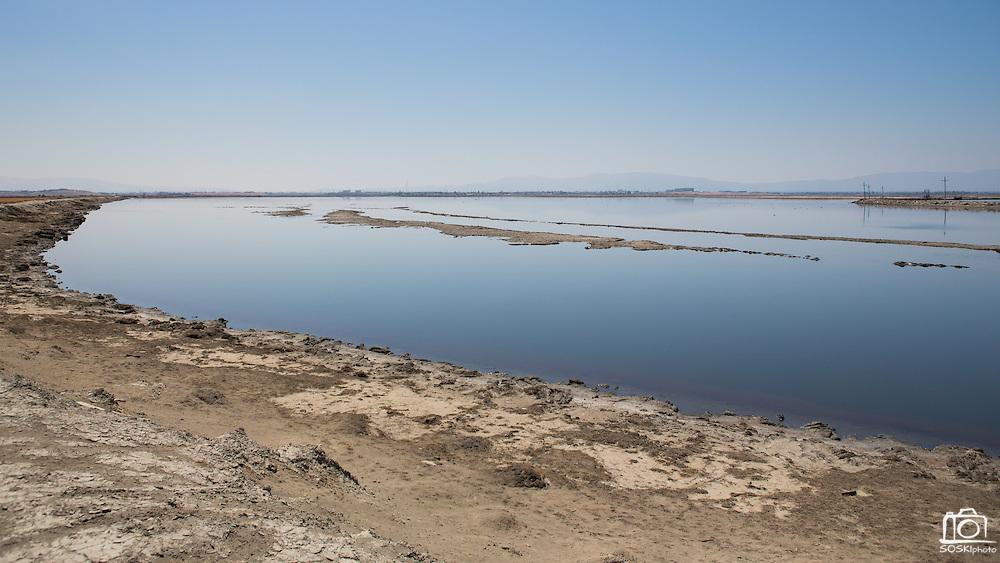 Calm waters line the trails of the Don Edwards Wildlife Refuge near Alviso, Calif.  Photo by Stan Olszewski/SOSKIphoto.