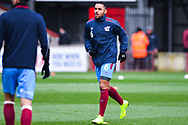 Funso Ojo of Scunthorpe United (6) warming up during the EFL Sky Bet League 1 match between Scunthorpe United and Sunderland at Glanford Park, Scunthorpe, England on 19 January 2019.