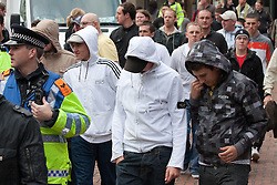 © Licensed to London News Pictures. 29/10/2011. Birmingham, UK. FILE PICTURE DATED 05/09/2009. The English Defence League demonstration from September 2009. Photo credit : Joel Goodman/LNP
