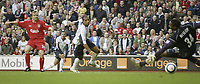 Photo: Aidan Ellis.<br /> Liverpool v West Ham Utd. The Barclays Premiership.<br /> 29/10/2005.<br /> Liverpool's ~Boudejwin Zenden scores the second goal