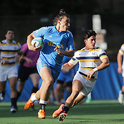 BERKELEY, CA - NOVEMBER 08:  Zack Bonte #2 of UCLA runs with the ball during the PAC Rugby 7's Championship between UCLA and California at Witter Rugby Field at the University of California on November 8, 2015 in Berkeley, California. California won the match by a score of 17-5. (Photo by Alex Menendez/Getty Images) *** Local Caption *** Zack Bonte