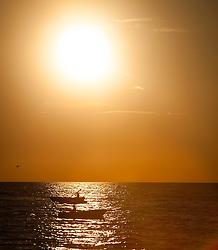 THEMENBILD - URLAUB IN KROATIEN, Boote fahren auf im Meer, bei Sonnenuntergang, aufgenommen am 03.07.2014 in Porec, Kroatien // Boat ride on the sea at sunset at Porec, Croatia on 2014/07/03. EXPA Pictures © 2014, PhotoCredit: EXPA/ JFK
