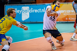 Viktor Lindberg of Sweden in action during the CEV Eurovolley 2021 Qualifiers between Sweden and Croatia at Topsporthall Omnisport on May 15, 2021 in Apeldoorn, Netherlands