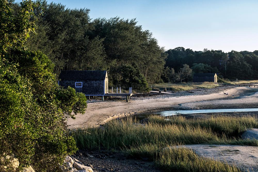 Pleasant Bay boathouse, Chatham, Cape Cod, Massachusetts, USA