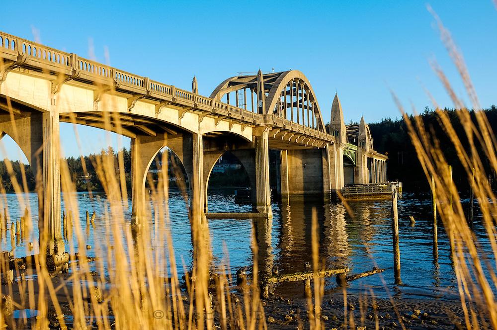 Siuslaw River Bridge in Florence, Oregon.