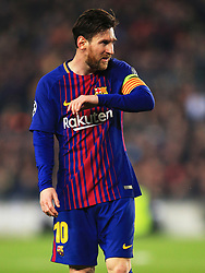 Lionel Messi of Barcelona wears the captains armband - Mandatory by-line: Matt McNulty/JMP - 14/03/2018 - FOOTBALL - Camp Nou - Barcelona, Catalonia - Barcelona v Chelsea - UEFA Champions League - Round of 16 Second Leg
