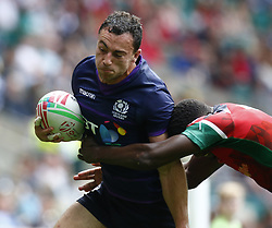 May 26, 2019 - Twickenham, England, United Kingdom - Jamie Farndale of Scotland.during The HSBC World Rugby Sevens Series 2019 London 7s Challenge Trophy Quarter Final Match 28 between Kenya and Scotland at Twickenham on 26 May 2019. (Credit Image: © Action Foto Sport/NurPhoto via ZUMA Press)