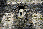 Beaumaris Castle, the greatest castle never built, on 17th of February 2020 in Beaumaris, Anglesey, Wales, United Kingdom. Beaumaris castle was a fortress built as part of Edward I's campaign to conquer north Wales after 1282. It is a symmetrical masterpiece that was never quite finished.