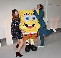Charlotte de Carle and Richard Biedul at the LFW Sponge Bob Gold presentation at The Atrium, The Store Studios, 180 The Strand, London England. 18 February 2017.