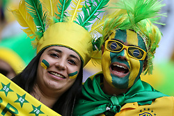 Torcida Brasileira na partida entre Brasil x Camarões, válida pela fase de grupos da Copa do Mundo 2014, no Estádio Maé Garrincha, em Brasíia. FOTO: Jefferson Bernardes/ Agência Preview