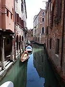 Venice Gondolas in a canal
