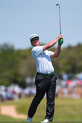 April 19, 2018 - San Antonio, TX, U.S. - SAN ANTONIO, TX - APRIL 19: Charley Hoffman watches his approach shot during the first round of the Valero Texas Open at the TPC San Antonio Oaks Course in San Antonio, TX on April 19, 2018. (Photo by Daniel Dunn/Icon Sportswire) (Credit Image: © Daniel Dunn/Icon SMI via ZUMA Press)