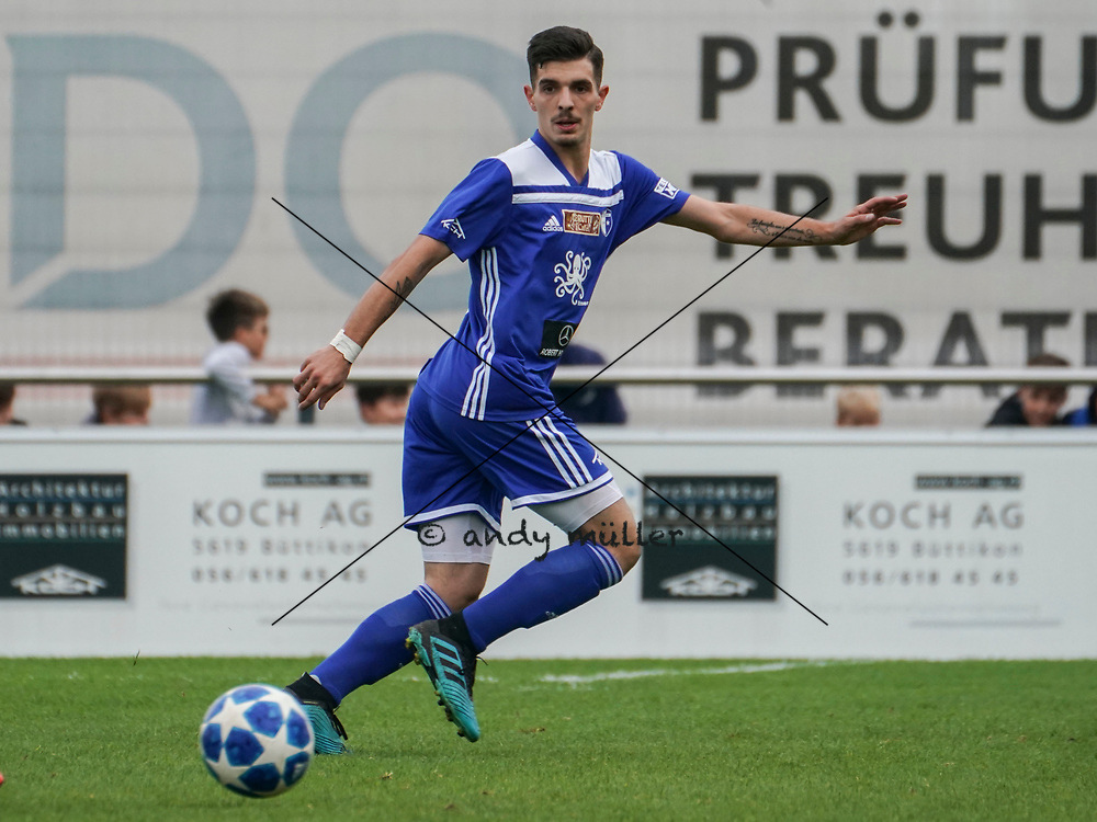 19.10.2019; Wohlen; Fussball 1.Liga - FC Wohlen - Zug 94;<br /> Gianluca Calbucci (Wohlen) <br /> (Andy Mueller/freshfocus)