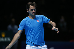 Murray Soares The Nitto ATP Finals is the year-end climax to the men's professional tennis season, featuring only the world's best eight qualified singles players and doubles teams as they battle it out for the last title of the season. Players compete for ATP Rankings points throughout the season in a bid to earn one of the eight coveted berths and a chance to win the biggest indoor tennis tournament in the world. Played using a round-robin format, each player plays three matches as they compete for a berth in the knockout semi-finals and beyond. 13 Nov 2018 Pictured: Roger Federer. Photo credit: EL/GOL/Capital Pictures / MEGA TheMegaAgency.com +1 888 505 6342
