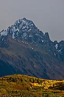 14,150 ft. Mount Sneffels and the Sneffels Range of the San Juan Mountains.  Autumn season, Colorado.