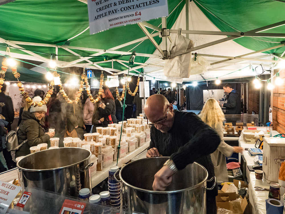 Christmas market shoppers in Winchester