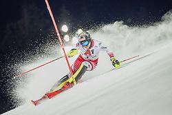 "29.01.2019, Planai, Schladming, AUT, FIS Weltcup Ski Alpin, Slalom, Herren, 1. Lauf, im Bild Manuel Feller (AUT) // Manuel Feller of Austria in action during his 1st run of men's Slalom ""the Nightrace"" of FIS ski alpine world cup at the Planai in Schladming, Austria on 2019/01/29. EXPA Pictures © 2019, PhotoCredit: EXPA/ Dominik Angerer"