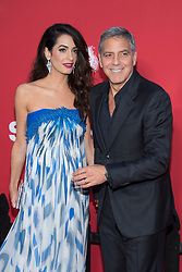 George Clooney, Amal Clooney attend the Premiere of Paramount Pictures' 'Suburbicon' at Regency Village Theatre on October 22, 2017 in Los Angeles, California. Photo by Lionel Hahn/AbacaPress.com