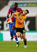 2019 / 2020 Premier League - Wolverhampton Wanderers vs Crystal Palace <br /> <br /> Diogo Jota of Wolverhampton Wanderers and Cheikhou Kouyate of Crystal Palace at Molyneux.<br /> <br /> Credit COLORSPORT/LYNNE CAMERON