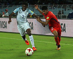 October 8, 2017 - Kolkata, West.Bengal, India - Player of England and Chili in action during the FIFA u17 World Cup India 2017 group F match on 8.10.2017 in Kolkata. (Credit Image: © Sandip Saha/Pacific Press via ZUMA Wire)