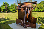 Anthony Caro, Erl King(2009) and Eduardo Paolozzi, Vulcan (1999) - The Frieze Sculpture Park 2017 comprises large-scale works, set in the English Gardens . The installations will remain on view until 8 Oct 2017.