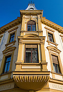 Architecture on the main square in Varazdin, Croatia