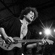 ALLENTOWN - JULY 9: Guitarist Lindsey Buckingham performs at the Allentown Fairgrounds on July 9, 1993, in Allentown, Pennsylvania. ©Lisa Lake