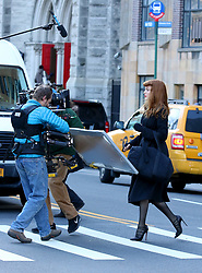"Blake Lively is unrecognizable as she disguises as a redhead while filming her latest movie project ""The Rhythm Section"" in Manhattan's Central Park. 14 Jan 2018 Pictured: Blake Lively. Photo credit: LRNYC / MEGA TheMegaAgency.com +1 888 505 6342"