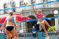 Katarina Fabjan at Beach Volleyball Challenge Ljubljana 2014, on August 1, 2014 in Kongresni trg, Ljubljana, Slovenia. Photo by Matic Klansek Velej / Sportida.com