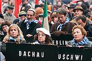 """""""Day of the Memory,"""" demonstration of the ex deported in the Nazi concentration camps....- """"Giorno della Memoria"""", manifestazione degli ex deportati nei campi di concentramento nazisti"""