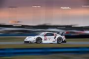 January 24-27, 2019. IMSA Weathertech Series ROLEX Daytona 24. #911 Porsche GT Team Porsche 911 RSR, GTLM: Patrick Pilet, Nick Tandy, Frederic Makowiecki , Brumos throwback livery