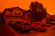 Keizer neighborhood under smoke from the 2020 Oregon wildfires.