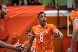 Fabian Plak #8 of Netherlands during the Olaf Ratterman Memorial match between Netherlands vs. Eredivisie All Star team on May 03, 2021 in Barneveld.