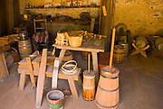 The Cooper (barrel making shop), Sutter's Fort State Historic Park, Sacramento, California
