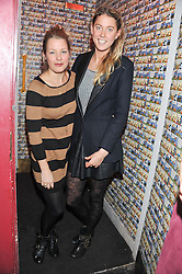Left to right, DAVINA HARBORD and DAISY FELLOWES at a party to celebrate the best of W&W Jewellery held at Barts, 87 Sloane Avenue, London on 26th November 2012.