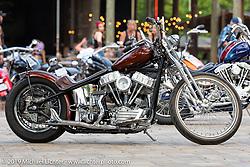 Franklin Church Choppers' Tom Keefer's 1956 Harley-Davidson Panhead custom chopper at Warren Lane's True Grit Antique Gathering bike show at the Broken Spoke Saloon in Ormond Beach during Daytona Beach Bike Week, FL. USA. Sunday, March 10, 2019. Photography ©2019 Michael Lichter.