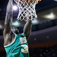 16 March 2013: Boston Celtics power forward Brandon Bass (30) dunks the ball during the Boston Celtics 105-88 victory over the Charlotte Bobcats at the TD Garden, Boston, Massachusetts, USA.