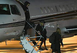 EXCLUSIVE: Music icon Madonna arrives with her adopted children and possible boyfriend 25 year-old dancer Ahlamalik Williams on a private jet in Miami, Florida. Madonna has a run of 7 shows at the Fillmore Miami Beach. 13 Dec 2019 Pictured: Madonna; Ahlamalik Williams. Photo credit: MEGA TheMegaAgency.com +1 888 505 6342